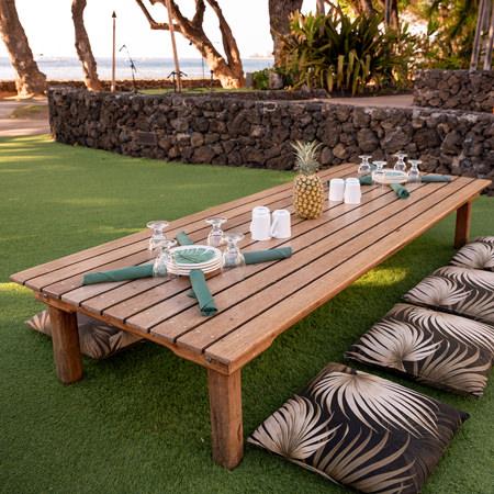 Old Lahaina traditional luau maui seating